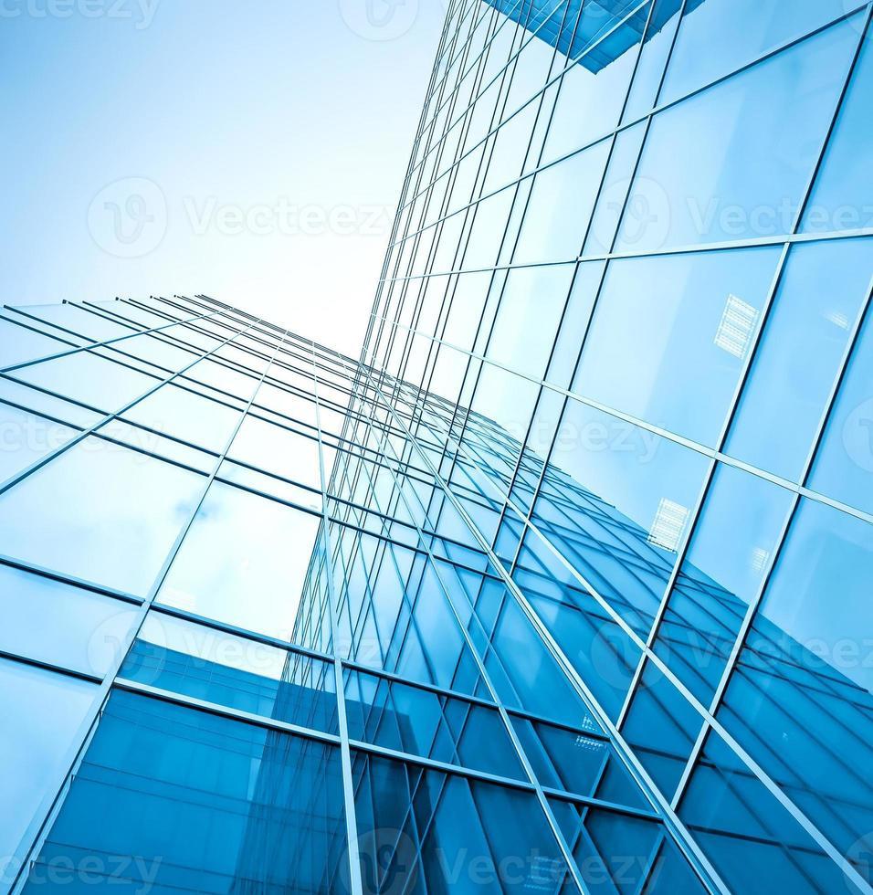gratte-ciel en verre bleu photo