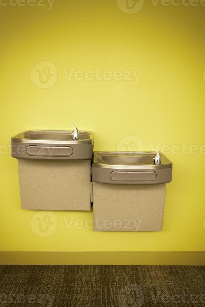 fontaines d'eau potable modernes dans un cadre d'entreprise. photo