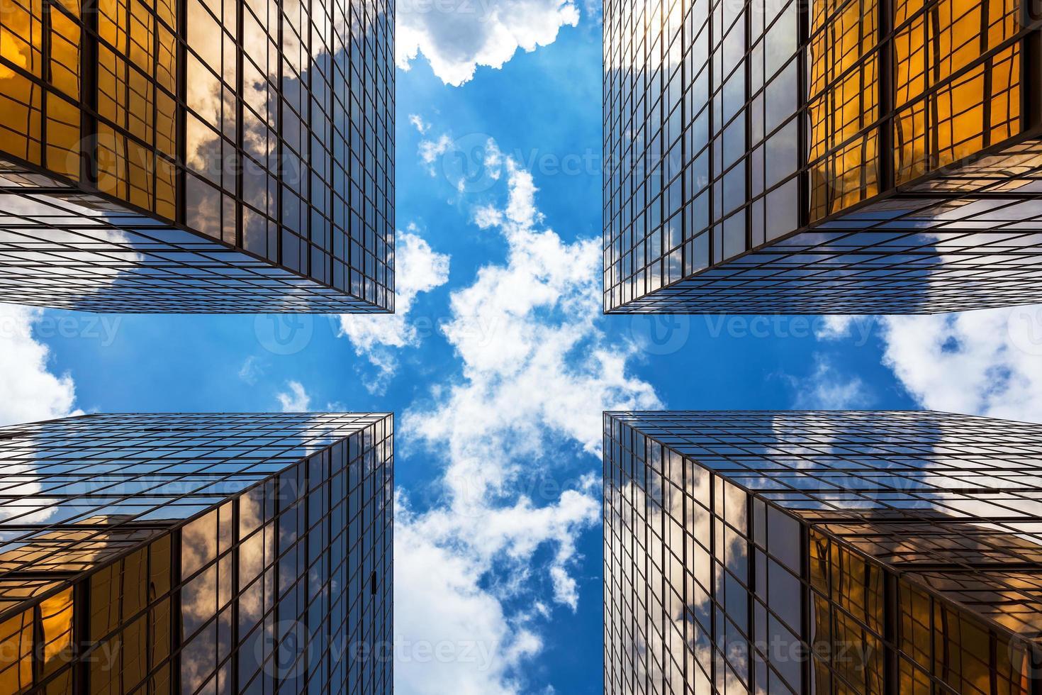 les bâtiments d'entreprise modernes de hong kong photo
