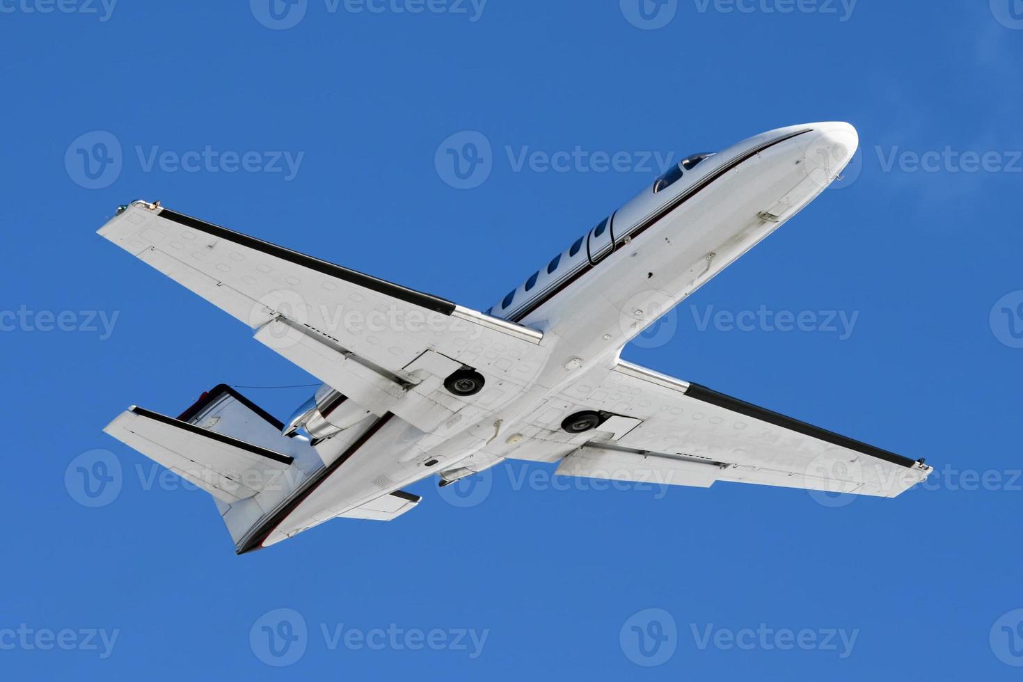 décollage d'un jet d'affaires photo