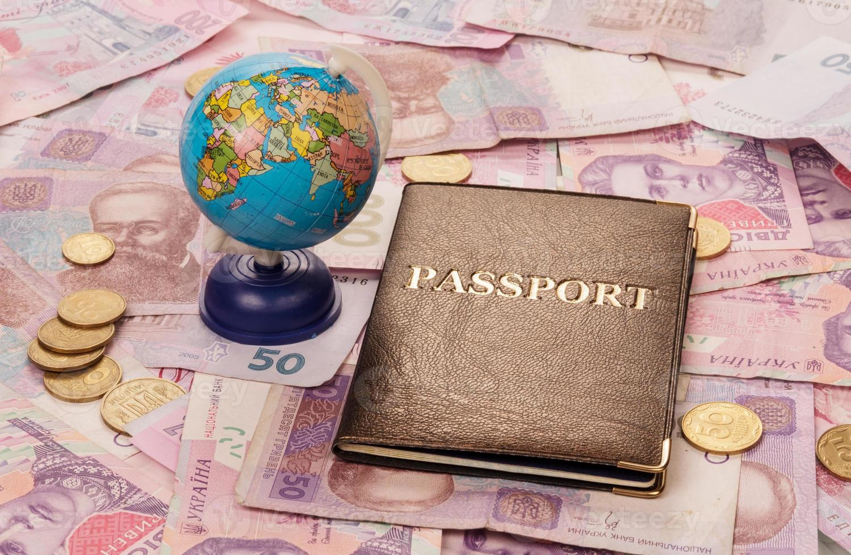passeport et globe photo