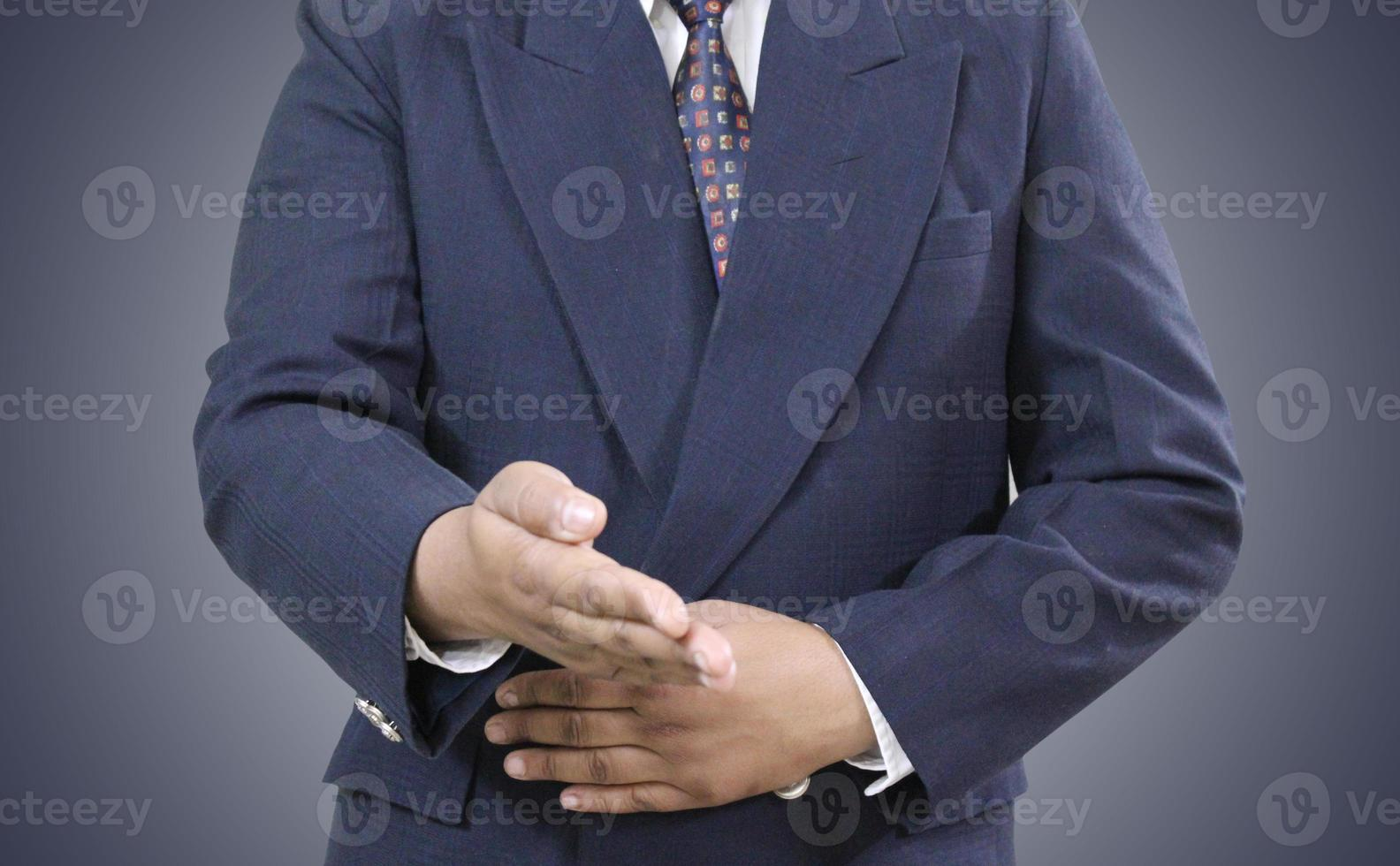 prêt à serrer la main. photo