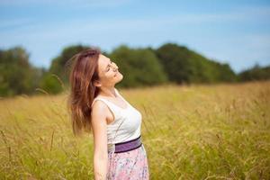 fille de beauté en plein air photo