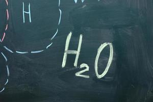 formules chimiques sur le tableau noir photo