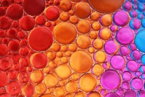 huile et eau sur couleurs 18 photo