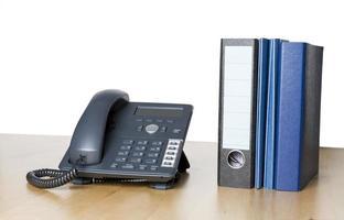 téléphone d'affaires moderne avec reliure à anneaux photo