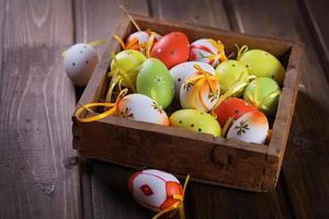œufs de Pâques. photo