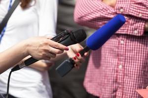 entrevue avec les médias photo