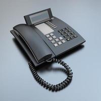 téléphone d'affaires noir photo