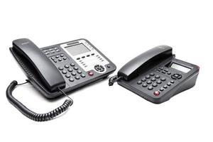deux téléphone de bureau