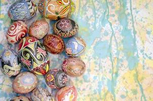 oeufs de pâques fond peinture photo