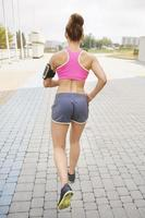 trouver le but est crucial dans le jogging photo