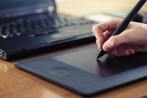 tablette graphique photo