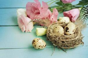 bouquet de fleurs eustoma, pâques photo