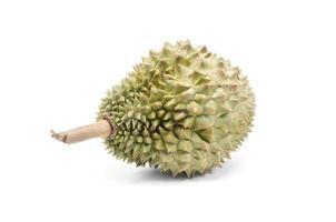 fruits thaïlandais, durian isolé sur fond blanc photo