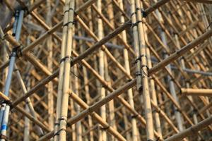 projet d'échafaudage en chantier de construction d'immeuble de bureaux photo