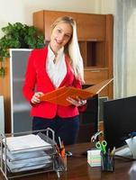femme affaires, bureau, intérieur photo