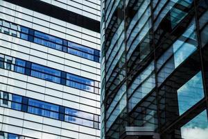 immeuble de bureaux financier moderne photo