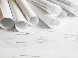 plan architectural de l'immeuble de bureaux photo