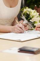 signe de la mariée photo