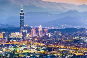 Skyline de Taipei photo