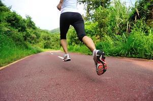 jambes d'athlète coureur