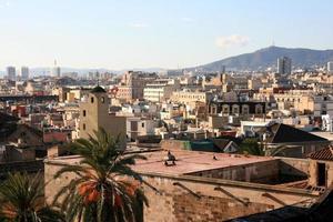 paysage de barcelone prendre dans la cathédrale photo