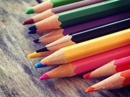 crayons de couleur vieux style vintage rétro