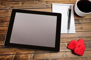 écran vide de la tablette photo