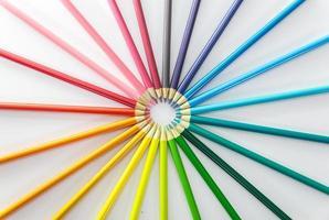 fond de crayon coloré photo