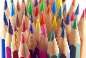 crayons de couleur, vue macro