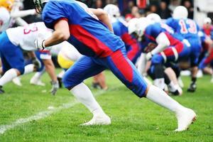 concept de joueur de football américain photo