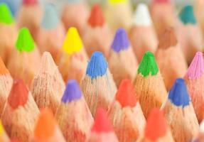 photo gros plan de crayons de couleur