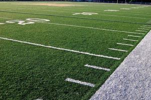 lignes de triage de terrain de football américain photo