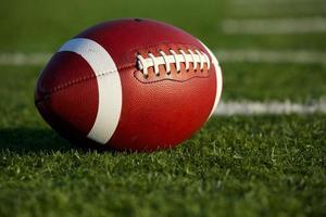 football sur le terrain se bouchent photo