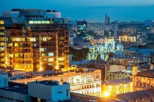 la vue sur le toit de la st. cathédrale de volodymyr photo