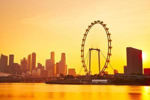 singapour au coucher du soleil photo