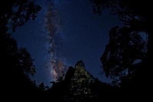 nuit étoilée dans les montagnes du nouveau-mexique