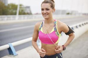 la bonne humeur est le résultat du jogging photo