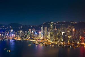 Skyline de Hong Kong. Chine.