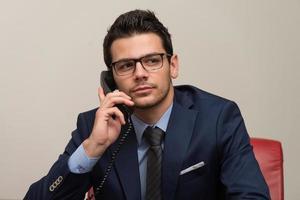 homme affaires, téléphone photo