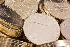 pièces de monnaie pln zloty polonais photo