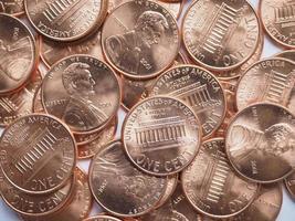 fond de pièces de monnaie dollar photo