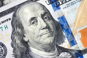 Benjamin Franklin billet de 100 dollars photo