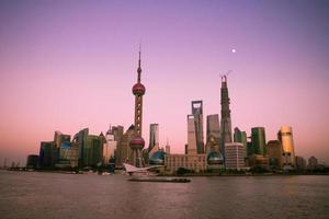 paysage urbain de shanghai, chine photo