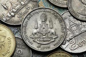 pièces de monnaie de la thaïlande photo