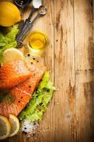 délicieux filet de saumon, riche en huile oméga 3 photo