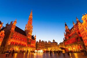 grote markt, bruxelles, belgique, europe. photo