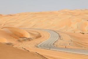 route à travers le désert photo