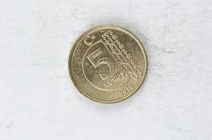 pièce de monnaie turc kurus photo